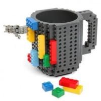 Gelas Mug Lego Build-on Brick Unik Kreatif
