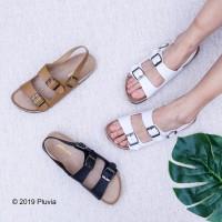 Pluvia - JENIA Sandal Flat Wanita Footbed