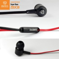 Handsfree ZAGBOX sound super bass (ZBX-38) - Putih