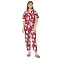 MOSIRU Piyama Wanita Setelan Baju Tidur Pajamas CP 102B