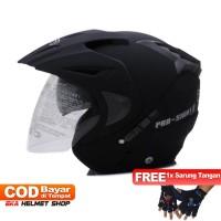 Helm Dewasa WTO Helmet Pro-Sight - Hitam Doff Promo Gratis Sarung Tang