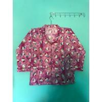 Baju Tidur Wanita Piyama Set Hello Kitty Pink Murah Anak Dewasa UNISEX