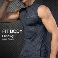 Queshark Kaos T-Shirt Compression Keren untuk Olahraga Fitness