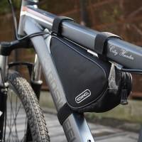 ROSWHEEL Tas Sepeda Bentuk Segitiga untuk Frame Depan Sepeda Gunung Ou