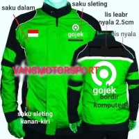 Jaket Gojek motor waterprof .hijau,M