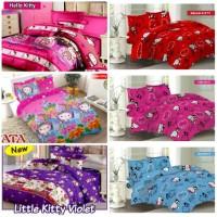 FATA Bed Cover Hello Kitty Collection Ukuran King 180x200 Queen 160x20