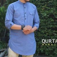 Baju Muslim Baju Koko Gamis Pria Qurta Kancing Premium