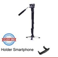 TRIPOD 013 YUNTENG VCT288 PRO MONOPOD FREE HOLDER L SMARTPHONE