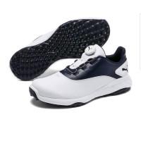 Sepatu Puma Golf Grip Fusion Disc - Puma White-Peacoat [UK8.5]