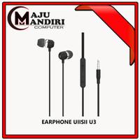 UIISII EARPHONE U3 WITH MICROPHONE DOUBLE UNIT STICK IN EAR EARPHONE