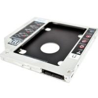 HDD Harddisk Second Caddy Slim Case 9.5mm SSD Sata - DVD Laptop