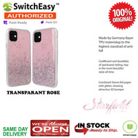 iPhone 11 / 11 Pro / 11 Pro Max Case Switcheasy STARFIELD Glitter - TRANSP ROSE, iPhone 11
