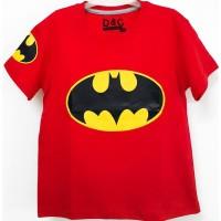 Kaos Anak Laki Laki Batman Logo Merah 1-6 Tahun