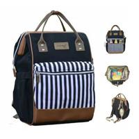 Dialogue Baby Moms Bag Strip Series diapers bag tas ransel backpack - Hitam