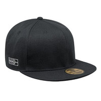 Snapback Topi Hiphop Polos Custom ( Black )