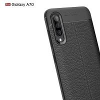 Case Casing Soft Case Auto focus Samsung A70 -Hitam
