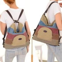 Tas Selempang Wanita Korean Style 2 model - Rainbow strips Bag