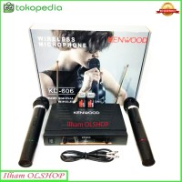 Mic Wireless Double Kenwood KD 606 Microphone / Mik Tanpa Kabel