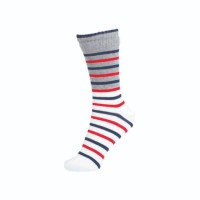 Kaos Kaki Pattent Goods Basic Stripe White Putih