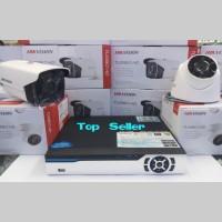 PAKET CCTV 4CH DVR 2 KAMERA HIKVISION HD TURBO 2MP LENS KOMPLIT