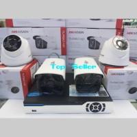 PAKET CCTV 4 CH HIKVISION HD TURBO KOMPLIT LENS 2MP