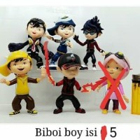 Action figure boboiboy isi 6 1 set