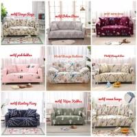 New Motif Cover Sofa 2 seater ( free 1 pcs sarung bantal )
