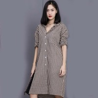 Baju Wanita BASIC SQUARE DRESS