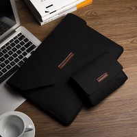 Tas Laptop Softcase Macbook Sleeve Simply Wool Felt 13 inch free pouch