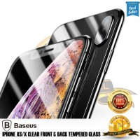 Tempered glass iphone X / Xs Front + Back Baseus Tempered glass