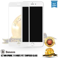Tempered glass iPhone 7 plus / 8 plus Baseus White tempered glass