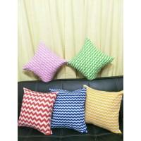 Sarung Bantal Sofa Zig Zag 40x40cm cushion cover sarung bantal kursi s