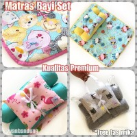 Matras bayi / Set kasur bayi /Perlak Baby / Tempat Tidur Bayi Free Ong