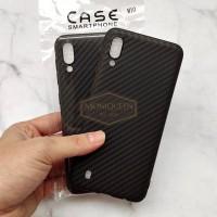 Samsung Galaxy M10 Luxury CARBON FIBER SoftCase Soft Case Casing HP