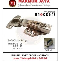 Engsel Sendok Soft Close Clip On / Knockers SCHE 01-02-03