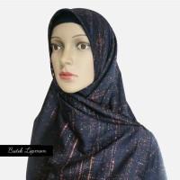 jilbab/kerudung segi empat besar motif abstrak