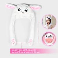 NO LED Cute Rabbit Ear Cap Hat Topi Kelinci Telinga Gerak Goyang Bunny