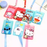 Name tag id holder card motif cartoon