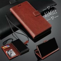 samsung A01 new leather flip cover sarung diary aimile dompet kulit