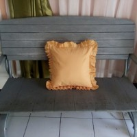 sarung bantal sofa orange rumbai polos