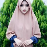 Hijab khimar pet syar'i wolfis - kerudung instan
