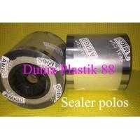 1Dus/12Roll Sealer Polos Khusus Gojek Grab Tutup Press Plastik Cup Lid