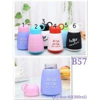 Botol Minum Kaca Lucu 300ml B57 / Botol Minum Lucu NICE 300ml B-57