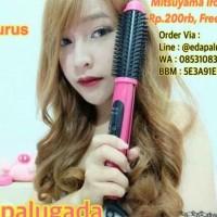 HOT SALE Mitsuyama iron brush, catokan 2in1 curly blow water zoom