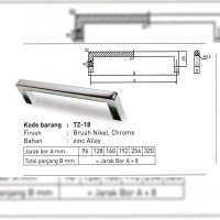 Handle Tarikan Lemari Minimalis TZ-18 96mm Brush Huben Marvel