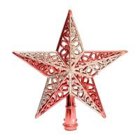 Hiasan Top Bintang Pohon Natal / Red Elegance (Besar) Pucuk PohonNatal