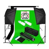 Paket Lampu Studio Photo Komplit + Background Stand Set Lighting Video