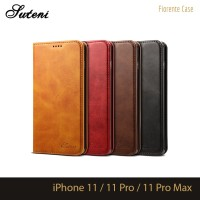 Leather Flip Case Cover iPhone 11 11Pro 11ProMax Pro Max Casing Kulit - Cokelat Muda
