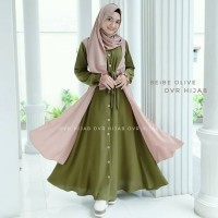 Baju Gamis Set Syari Wanita Terbaru Monalisa Set Baju Setelan Muslim