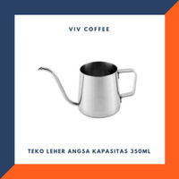 Teko Leher Angsa V60 Coffee Gooseneck Kettle Coffee Drip 350ml